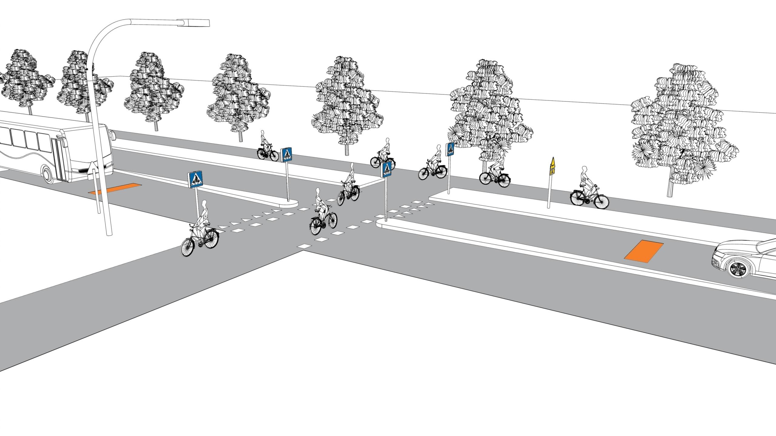 Cykelöverfarter och Actibump